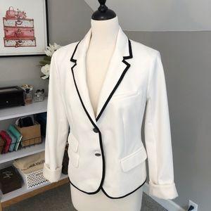 White GAP Academy Blazer with Black Trim